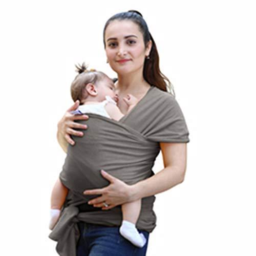 Fular Portabebés, Portador De Bebé Elastico para Llevar Al Bebé Ajustable Baby Carrier para Bebés Y Niños Pequeños De Entre 0 KG - 25 KG,Gris Oscuro