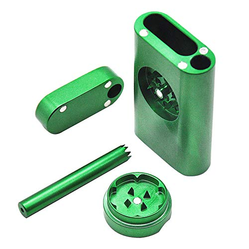 NEWPIPE specially designed mini grinder, storage rack aluminum alloy magnetic cover, grass green
