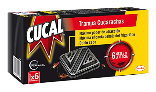 Cucal Trampa doble cebo contra Cucarachas - 6 uds.