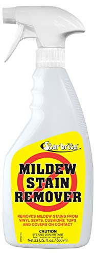STAR BRITE Mold Stain & Mildew Stain Remover + Cleaner – Lifts Dirt & Removes Mildew Stains on Contact - 22 OZ Spray, clear (085616SS)