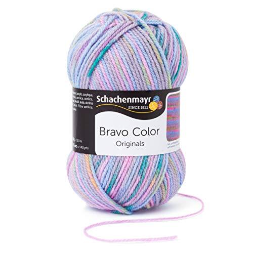 Schachenmayr Bravo Color 9801421-02116 pastell color Handstrickgarn, Häkelgarn