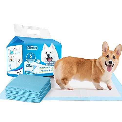 Nobleza Empapadores Perros, Alfombrillas Higiénica Desechables para Mascotas, Pads para Perros súper absorbentes, Toallitas de Entrenamiento para Mascotas, 20 uds, 40 x 60 cm