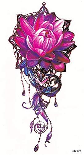 Tatouages éphémères Fleur rouge de Etitulaire