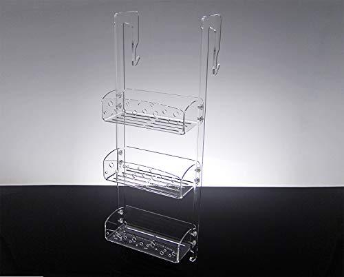 Slato Mensola per Doccia dal Design Moderno in Cristallo metacrilato Trasparente Calipso (81,5x25x12)