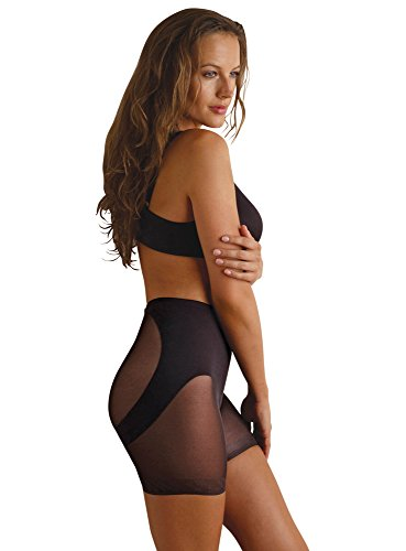 Miraclesuit Shapewear Women's Extra Firm Sexy Sheer Step-in Waist Cincher Black Body Shaper XL