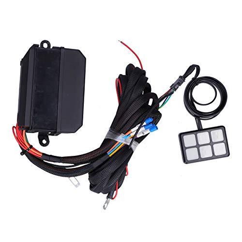 Arnés de cableado de caja de relé, panel de interruptor de 12 V CC Sistema de relé electrónico Panel de interruptor Sistema de relé electrónico de relé para barco para coche