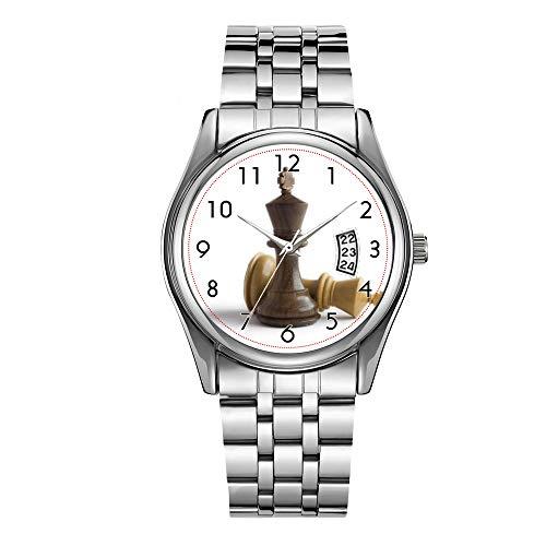 Reloj de lujo de los hombres 30m impermeable fecha reloj masculino deportes relojes hombres cuarzo casual Navidad reloj de pulsera juego de ajedrez más relojes de pulsera