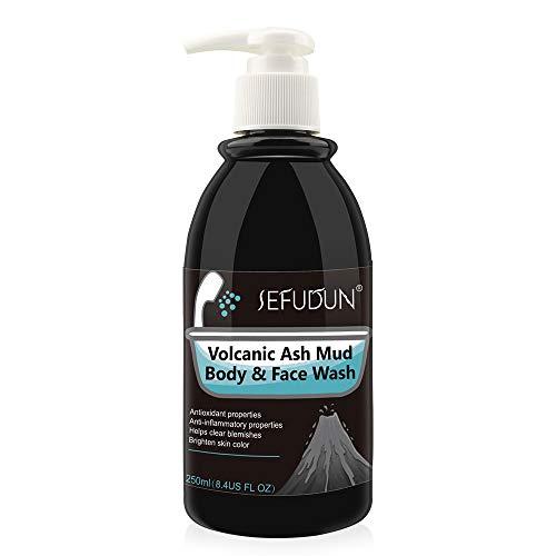 Duschgel, Volcanic Mud Body Face Wash, Körperpeeling-Peeling für Männer und Frauen, Reinigungsgel, Tiefenreinigung, Feuchtigkeit Desodorieren, Hautfarbe aufhellen, für Trockene und Empfindliche Haut