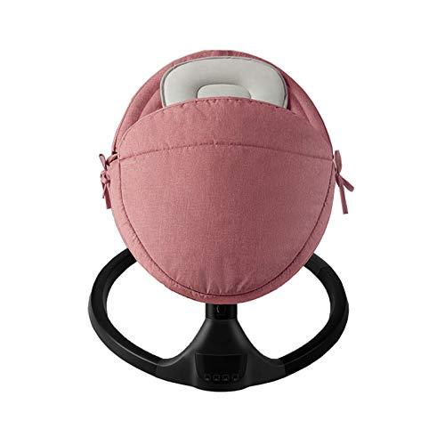 Baby 27 Neigung Smart Swing 5-Gang Intelligent Sleep Companion Komfortabler elektrischer Schaukelstuhl mit abnehmbarer, eng anliegender Steppdecke für 0-12 Monate (Color : Pink)