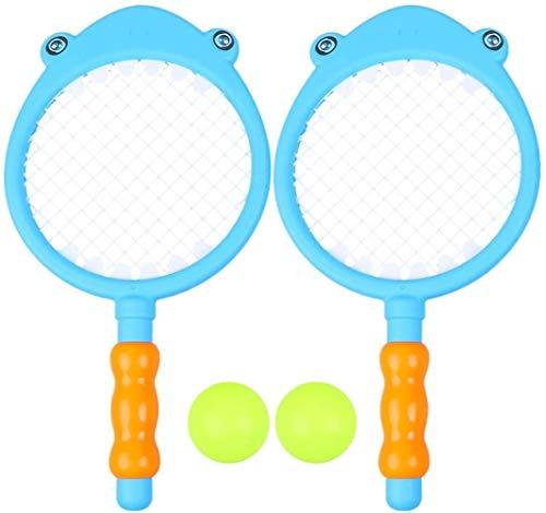HLD Schläger Bälle Spielzeug Set Tennis Paddle-Schläger Schläger-Sport-Spiel Sommer Outdoor-Kinder spielen for Garden Beach Plastiktennisschläger for Kinder Outdoor-Spielzeug for Kleinkinder Alter 3-5