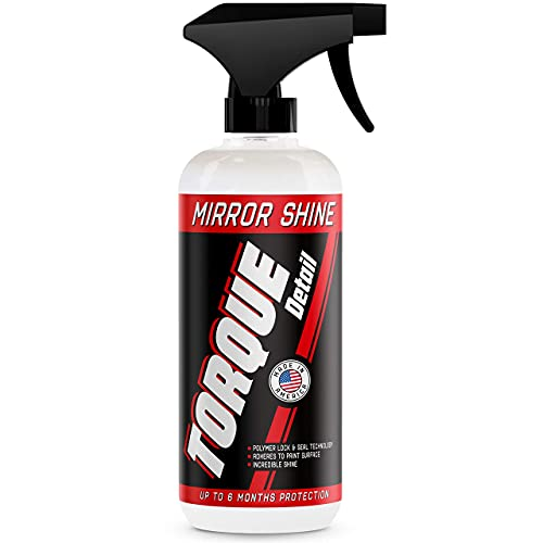 Torque Detail Mirror Shine - Super Gloss Wax & Sealant Hybrid Spray Superior Shine w/Professional Detailer Protection - Quickly Applies in Minutes, Each Coat Lasts Months - 16oz Bottle