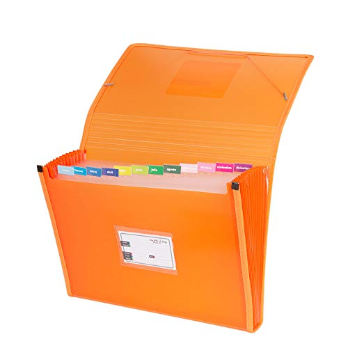 Grafoplás 02963052-Carpeta separadora, tamaño folio, color naranja