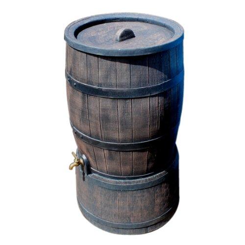 ウイスキー樽風プラスチック製雨水タンク「ウィリアム」120L