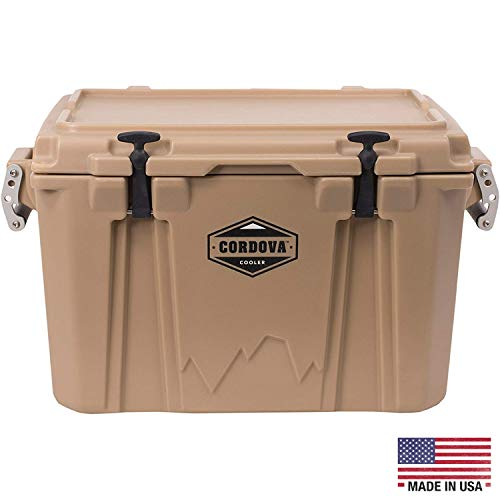 Best Bargain Cordova Coolers Medium Cooler - 48 Quart/Can Capacity Portable Insulated Hard-Sided Coo...