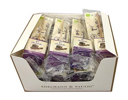12 x CHOCOBELLO | ZARTBITTER | Trinkschokolade am Stiel | Bio | Box mit 12 Schokoladen-Würfel am Holzstiel | von EDELMANN & PAULIG