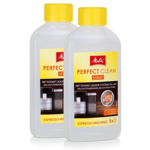 2x Melitta 202034 Perfect Clean Espresso Machines Milchsystem Reiniger 250ml