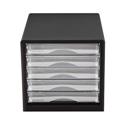 XUSHEN-HU -Oficina del archivo de datos Gabinete Gabinete múltiples funciones de escritorio multiusos del cajón de la mesa de almacenamiento de pequeño gabinete en capas de reparto cinco capas (Color: