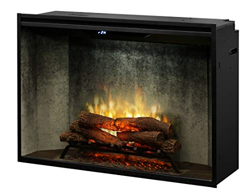 Dimplex Revillusion 8794 BTU 42 Inch Wide Built-in Vent-Free Electric Fireplace with Weathered Concrete Interior and Remote Control