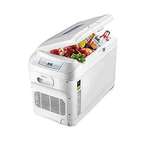 JNWEIYU Mini Car Kühlschrank, 28L High Capacity Dual-Core Kältetechnik, Baukompressor Kühlschrank mit Gefrierfach, Temperaturminimum -18 ° -65 ° Adjustment, DC 12 V-24 V, AC 200 V