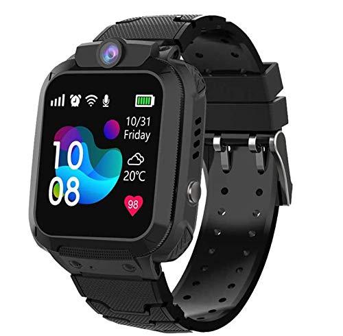 Winnes Inteligente Reloj para Niños, IP67 Impermeable Smart Watch Phone 2 Vías Llamada LBS Reloj Niñas Localizador con SOS Anti-Lost Alarm Táctil Smartwatch para 3-12 Años De Edad (S12 Nergo)