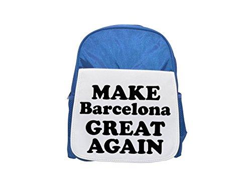 MAKE Barcelona GREAT AGAIN printed kid's blue backpack, Cute backpacks, cute small...