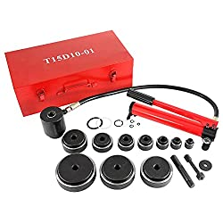top rated BEAMNOVA Punching Punch Set 15 tons, 1/2-4 inch, Hydraulic Metal Hole Punching Tool Kit … 2021
