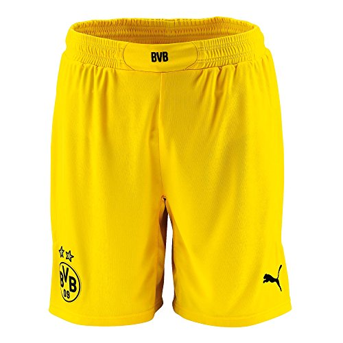 Puma Bvb Short Dortmund Homme Cyber Yellow/Black FR : 38/40 (Taille Fabricant : S)