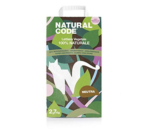 Natural Code Lettiera 100% Naturale in Fibra Vegetale 2,79 kg