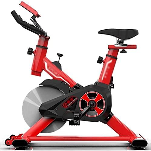 Flat Bike Indoor Cyclette Comodo cuscino del sedile Manubrio e sedile regolabili Volante pesante Display a LED Attrezzature per esercizi e fitness