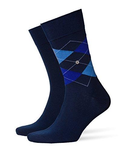 BURLINGTON Herren Socken Everyday - 80{b27e77ceb67d34b10db48a1871619f534fcb9c5f1c35aeea932a190eaf8cd90a} Baumwolle, 2 Paar, Blau (Marine 6121), Größe: 40-46