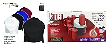 MGS Black Cape & Caruso C97953 30 Molecular Steam Hairsetter with 30 Rollers Bundle