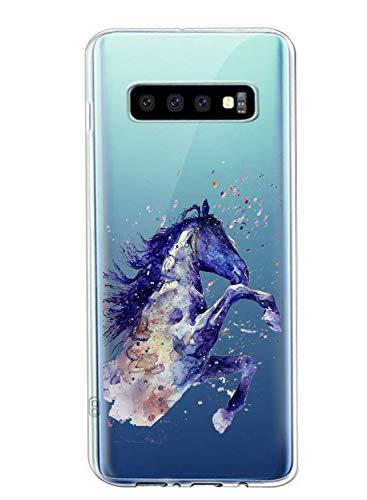 Oihxse Cristal Clear Coque pour Samsung Galaxy S9 Silicone TPU Souple Protection Etui [Jolie Aquarelle Animal Design] Anti-Choc Anti-Scratch Bumper Housse Ultra Fin Case (B5)