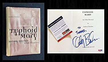PSA/DNA - Anthony Bourdain Autographed Signed Memorabilia Book - Typhoid Mary - Very Scarce