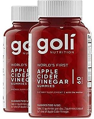 Apple Cider Vinegar Gummy Vitamins - Immunity & Detox - (2 Pack, 60 Count, with The Mother, Gluten-Free, Vegan, Vitamin B9, B12, Beetroot, Pomegranate) - 2 Pack