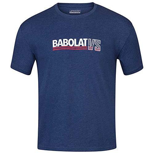 Babolat Exercise Vintage tee Men Camiseta, Hombre, Estate Blue HTHR, L