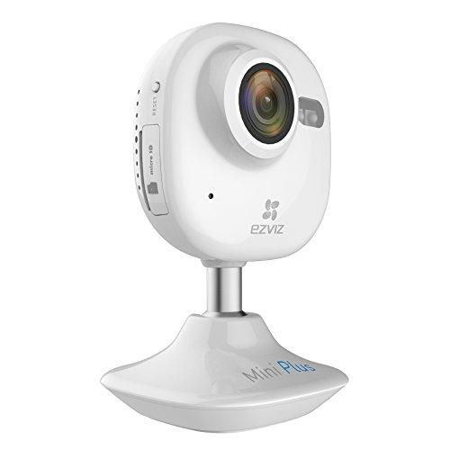 EZVIZ Mini Plus CV 200 Indoor Day Night 1080p Wi Fi Cloud Camera with 16GB microSD Card, 2 8mm Fixed Lens, 30 fps, White