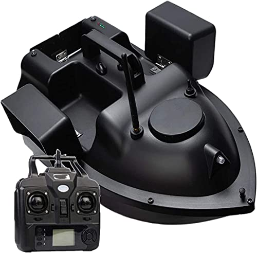 MeTikTok Barco De Control Remoto, Barco De Cebo De Pescado 2Kg Tanques De Carga GPS RC Pesca Bait Boat 500M 3-Vía Cebo Retorno Inteligente con 1 Baterías