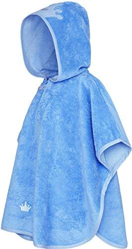 Smithy® Kinder-Badeponcho aus Baumwollfrottee – Schadstofffrei und Ökotex zertifizierter Baby Badeponcho (Blau)