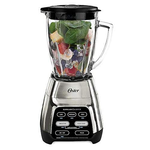 Oster BLSTKH-CM0-000 Master 6 Speed 6 Cup Glass Jar Home Kitchen Countertop Smoothie Mixer and Ice Chopper Blender, Brushed Nickel