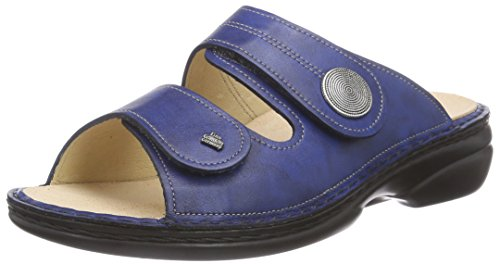 Finn Comfort Sansibar, Damen Offene Sandalen, Blau (Blau), 39 EU