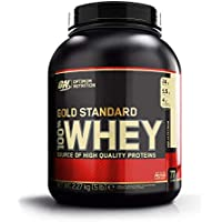 Optimum Nutrition ON Gold Standard 100% Whey Proteína en Polvo Suplementos Deportivos con Glutamina y Aminoacidos Micronizados Incluyendo BCAA, Helado de Vainilla, 73 Porciones, 2.27 kg