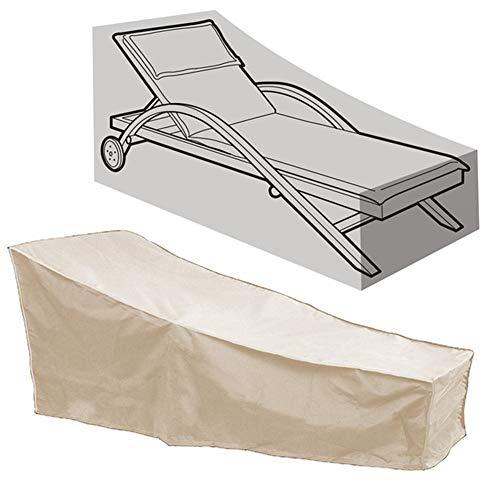 HFM Copertura per mobili da Giardino, Copertura per Sedia per Il Tempo Libero all'aperto, Copertura per Sedia da Giardino Impermeabile, Antivento, Anti-UV, Antipolvere (208x79x76cm),Beige