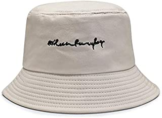CHENDX Hat New Female Spring and Summer Hat Fisherman Hat Male Letter Embroidery Big Visor (Color : Beige)