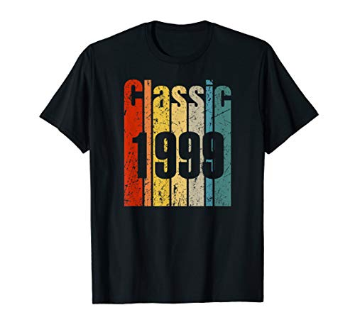 Vintage 1999 21 Years Old Retro 21st Birthday Gift Born 1999 T-Shirt