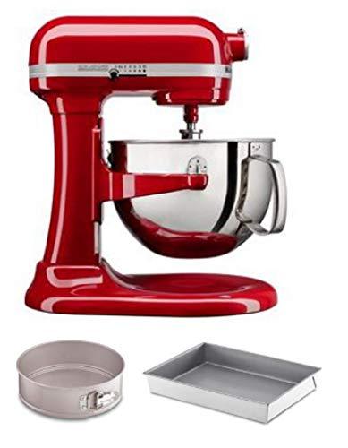 KitchenAid KL26M1XCMER KitchenAid Professional 6 Quart Bowl Lift Stand Mixer with 2 Piece Bakeware Set, Empire Red