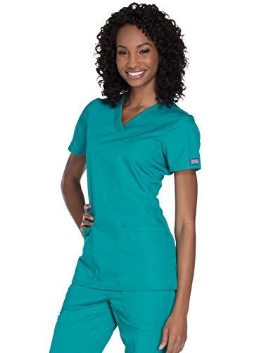 CHEROKEE Damen V-Neck Top Medizinische Berufskleidung, blaugrün, Mittel