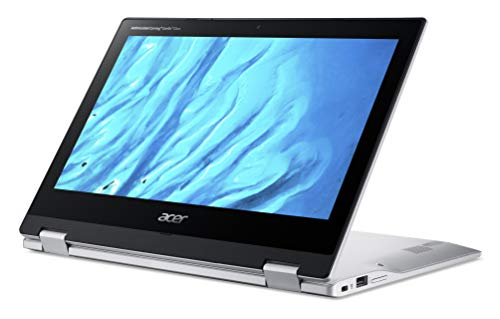 "Acer Convertible Chromebook, 11.6"" IPS Touch, Convert MTK MT8183 Processor, 4GB RAM, 32GB eMMC, Chrome OS, Silver, CP311-3H-K4S1"