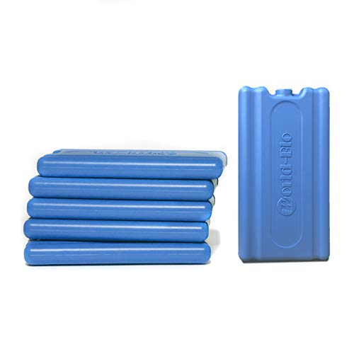 Ice Pack Freezer Blocks, Cool Pack for Lunch Box Reusable Cooler Bag - Small But Quick Freeze and Long-Lasting Ice Packs - Freezer Packs for Kids School Lunch Boxes, Camping, Picnic, Hiking - 6 Packs