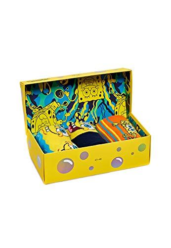 Happy Socks Geschenkbox SPONGEBOB SQUAREPANTS 3-PACK GIFT BOX XBOB08-0100 Mehrfarbig, Size:41-46