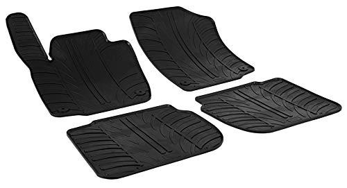 Alfombrillas de Goma Compatible con Skoda Rapid 5-Puertas 2012- & Seat Toledo 5-Puertas 2013-(Perfil T 4-Partes + Clips de Montaje)